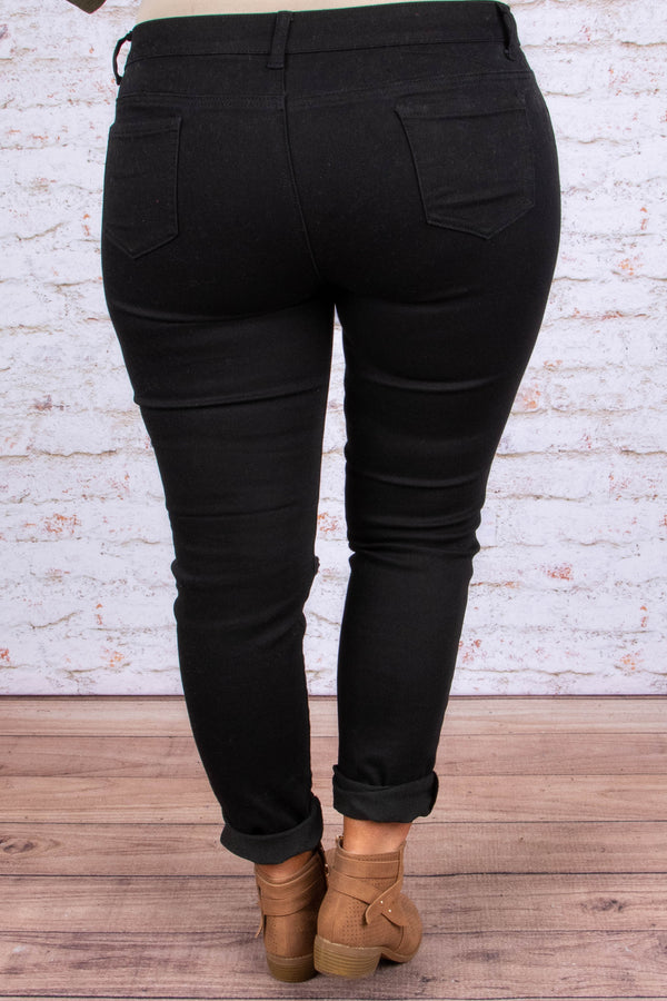 On Stand By Skinny Jeans, Black