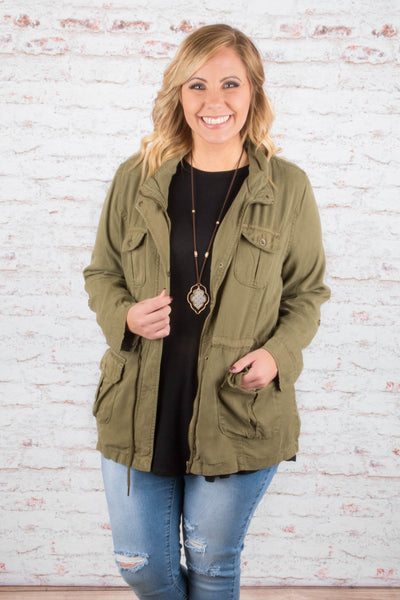 Just Another Day Jacket, Olive