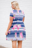 New Experiences Dress, Navy