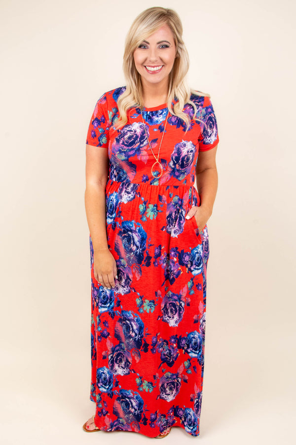 Charming Choice Maxi Dress, Coral
