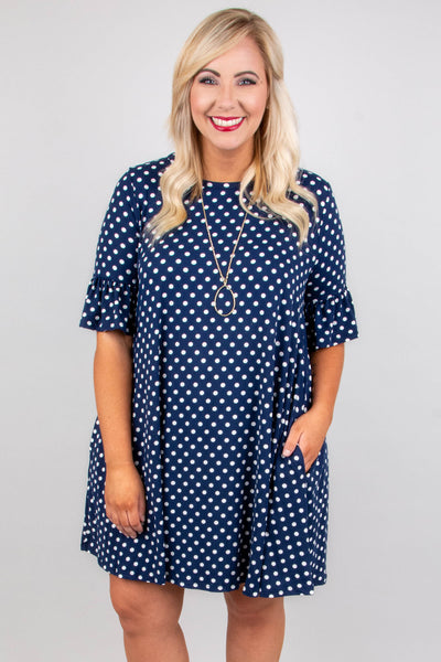 Steal My Heart Dress, Navy