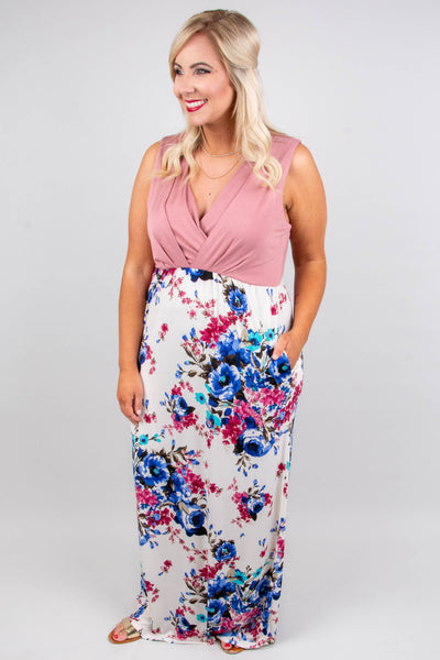 So Blooming Cute Maxi Dress, Mauve