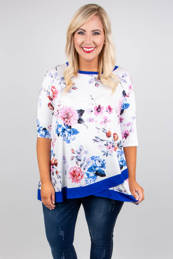 Content With Love Tunic, Royal Blue