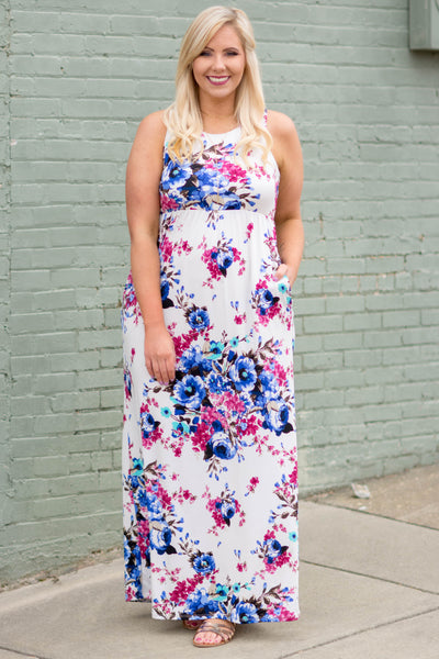 Playfully Posh Maxi Dress, Ivory