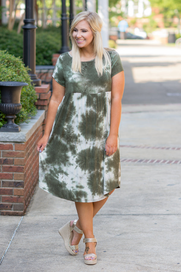 Dyed And True Dress, Olive
