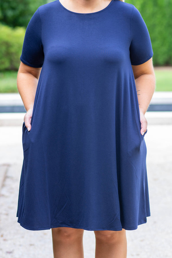 Best Bet Dress, Navy