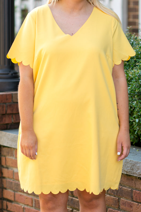 Bright Moments Dress, Yellow