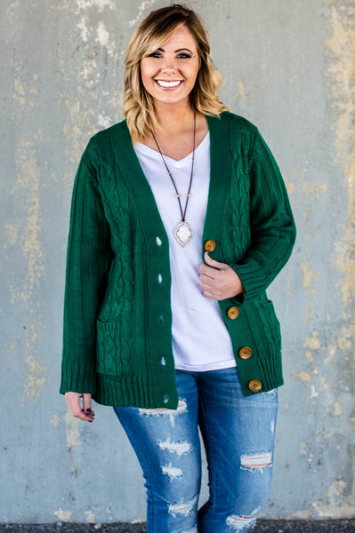 Warm and Cozy Cardigan, Green