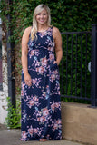 Just A Matter Of Time Maxi Dress, Navy