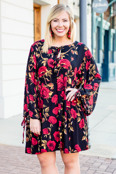 A Dozen Roses Dress, Black