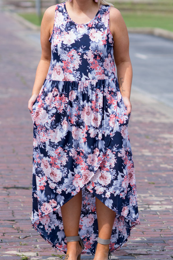 Stay Curious Dress, Navy