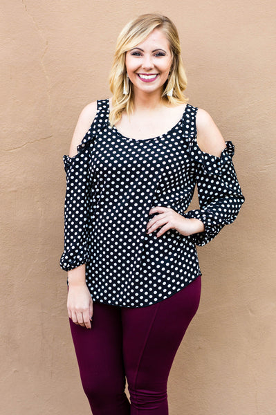 A Dot Of Love Blouse, Black