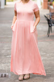 Passion For Fashion Maxi Dress, Blush