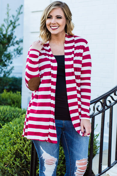 Patch Me If You Can Cardigan, Red