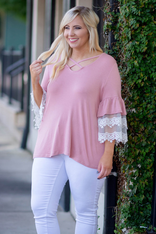Someone Familiar Top, Mauve