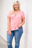 Queen Of The Weekend Top, Peach