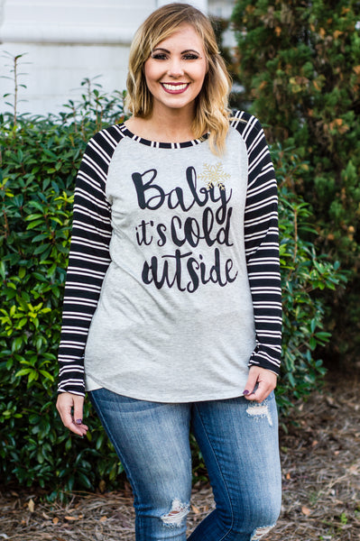 Baby It's Cold Outside Tee, Black