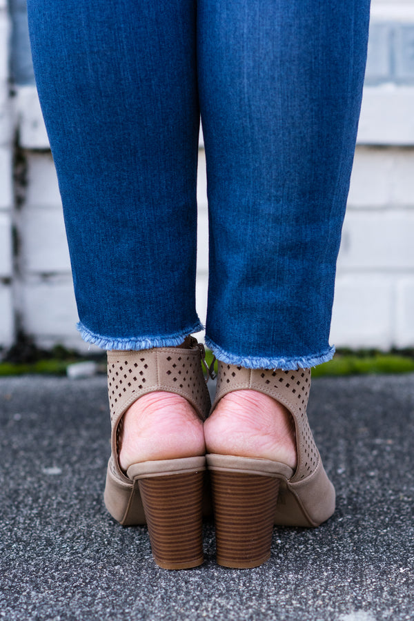 Made For Walkin' Booties, Taupe