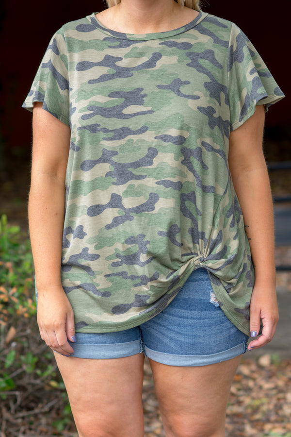Girls Like Us Top, Olive