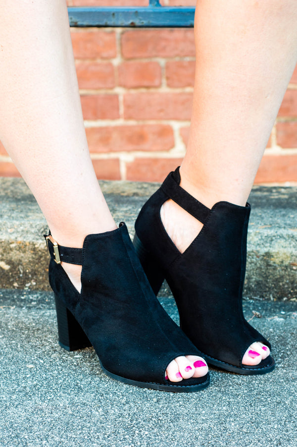 Knockout Booties, Black