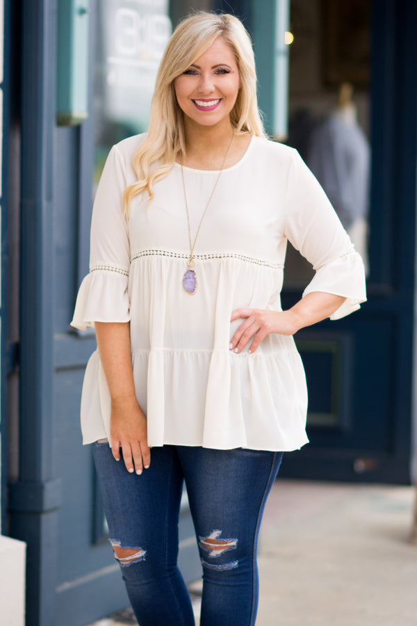 Pop Of Personality Top, Ivory