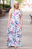Twirl The Day Away Maxi Dress, Blue