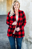Camp Counselor Cardigan, Red-Black