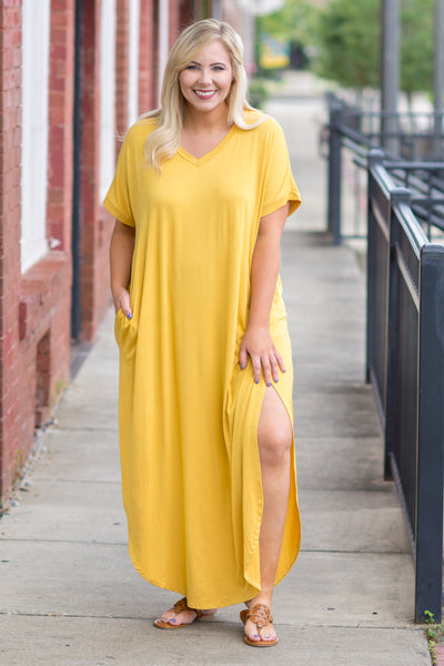 Flow With It Maxi Dress, Mustard
