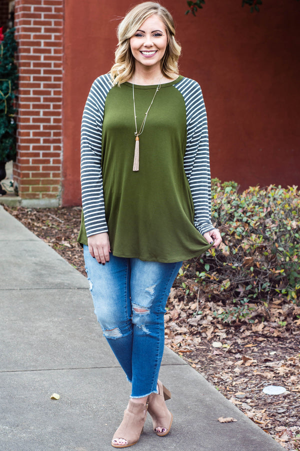 Never Apart Top, Olive
