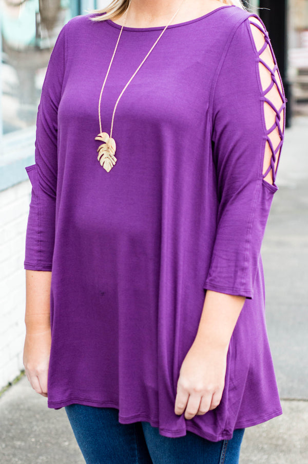 After Midnight Tunic, Violet