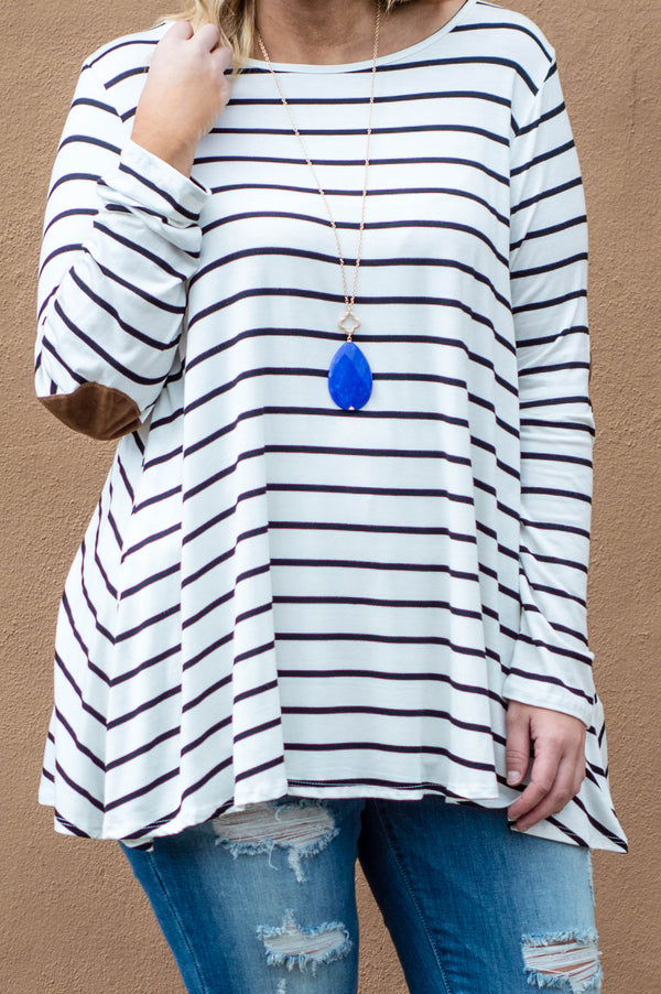 Leap Of Faith Tunic, Ivory Black