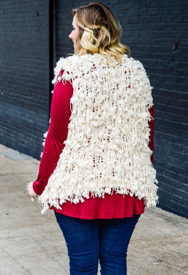 It Sure Is Cold Outside Vest, Ivory