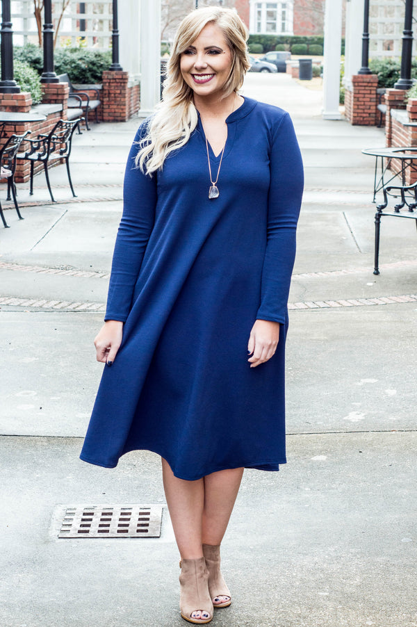 Professional Opinion Dress, Navy