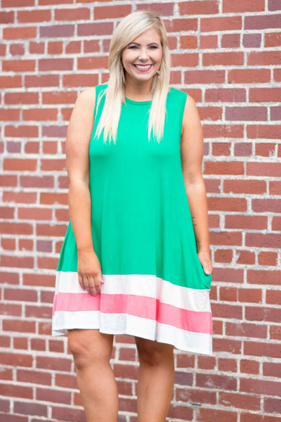 Effortless Vibes Dress, Kelly Green