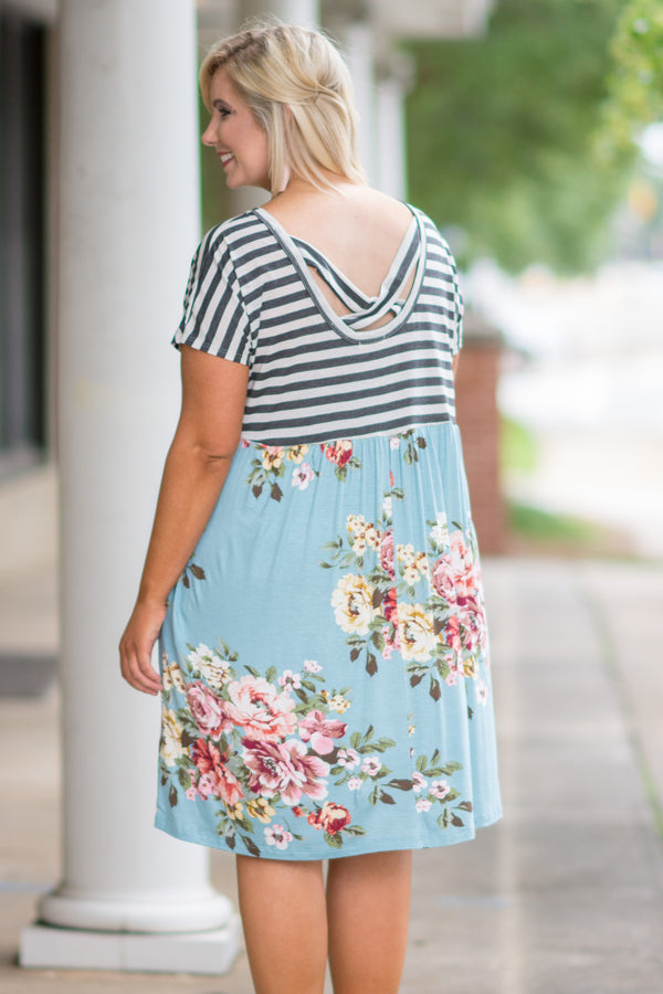 Stay Smiling Dress, Mint