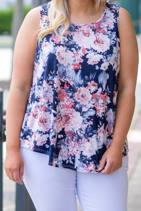 Island Destination Tank, Navy
