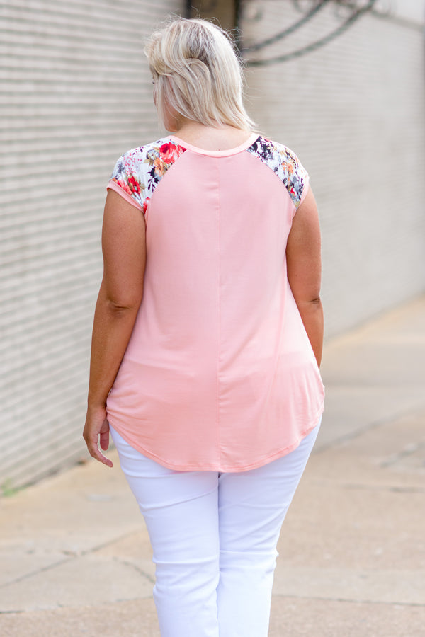 Breezy Afternoon Top, Peach