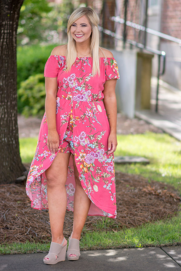 Catching Rays Romper, Coral