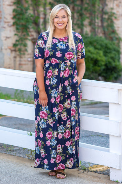 Go About The Day Maxi Dress, Navy