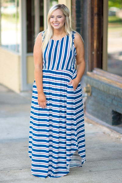 Sounds Like Summer Maxi Dress, Navy
