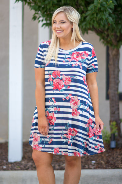 Lost Without You Dress, Navy