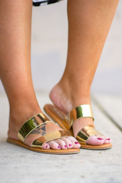 Chasing Daylight Sandals, Gold