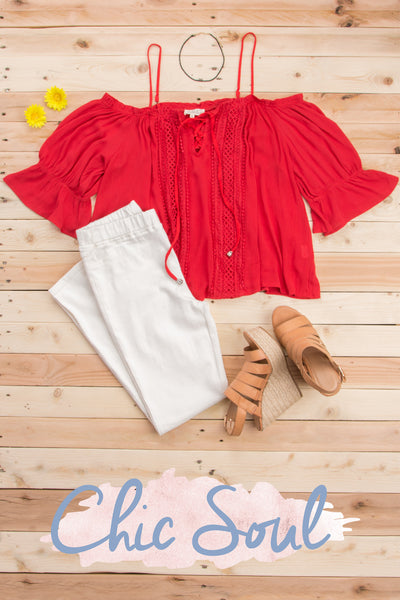 I Found Love Blouse, Red