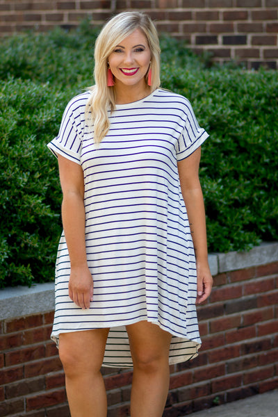 Coast To Coast Dress, Ivory-Black