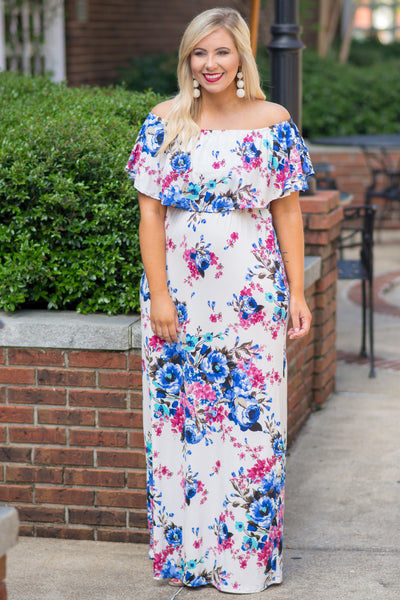 Flirty And Fun Maxi Dress, Ivory