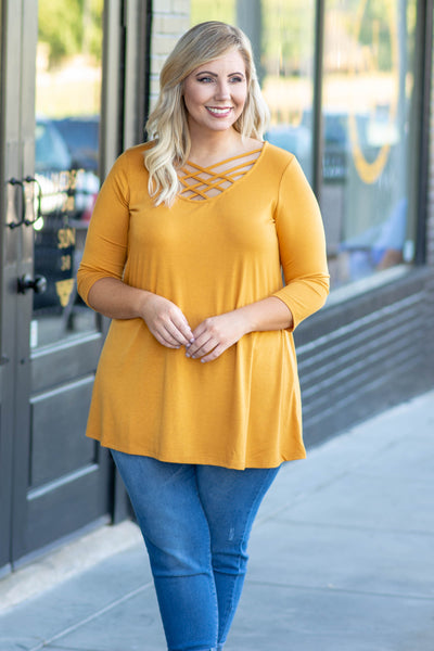 Good Heart Top, Mustard