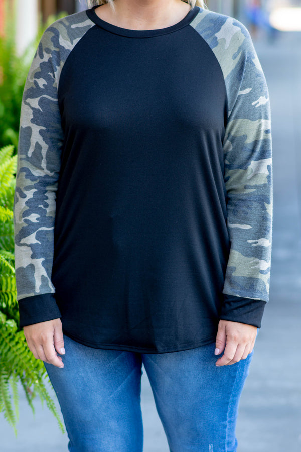 Hit The Trail Top, Black
