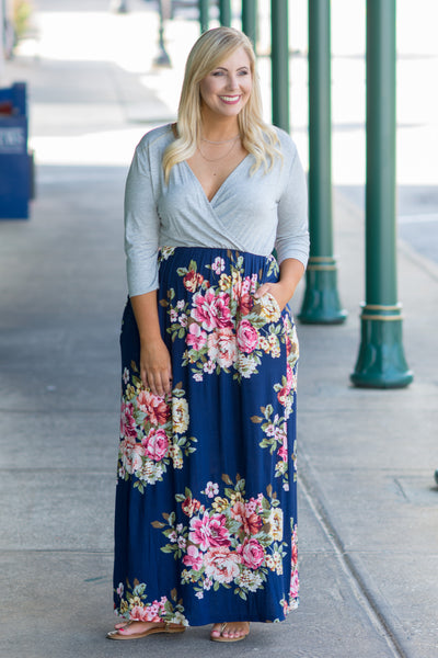 Collecting Memories Maxi Dress, Navy