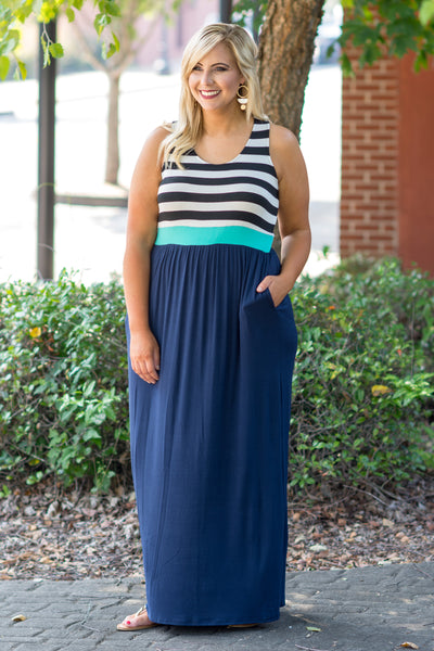 Say Anything Maxi Dress, Navy