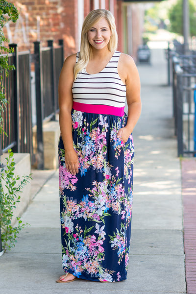 All I've Ever Wanted Maxi Dress, Navy